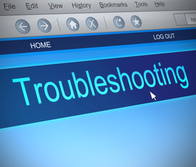 Troubleshooting concept.