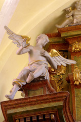 angel sculpture in the church baroque 2
