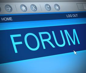 Forum concept.