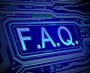 FAQ concept.