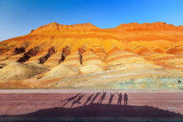 Danxia Landform,Zhangye, China.