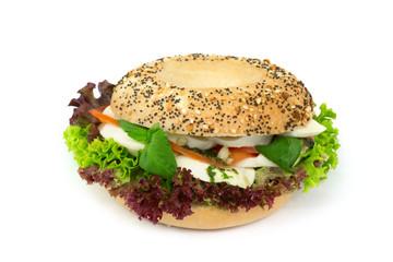 Bagel Burger mit Ei