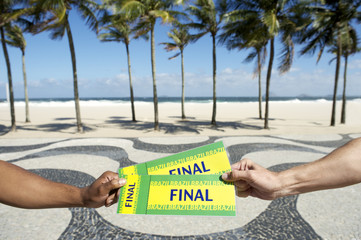 Tickets to Football Soccer Final Event in Copacabana Rio Brazil
