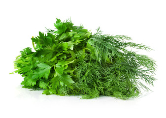 parsley, dill, bunch