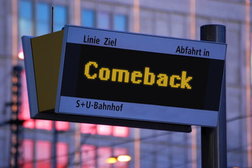 Anzeigetafel 1 - Comeback