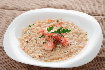 Risotto with crab