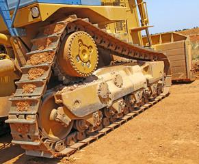 Chenilles de bulldozer