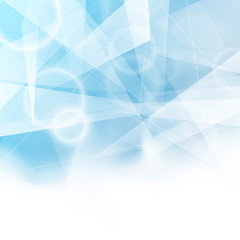 Triangular blue bokeh background folder