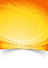 Bright summer solar folder template