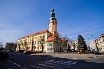 Town hall in Olawa, Poland
