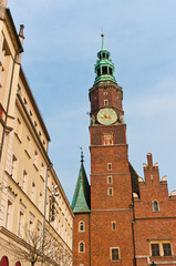 Old town hall in Wroclaw, Poland