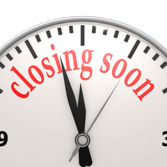 Closing soon clock
