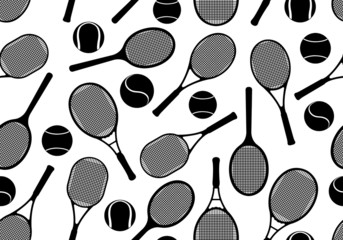 Tennis rackets seamless background