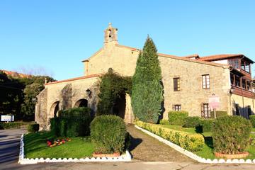 Old church Catholic shrine in San Vicente de la barquera Spain
