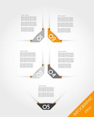 orange timeline template with corner stickers