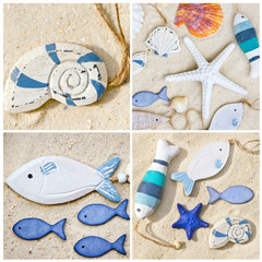 Happy beach card
