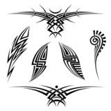 Vector tribal tattoo set - 65993493