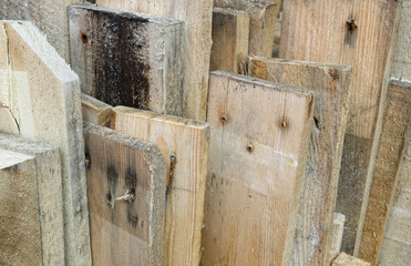 Plank close up.