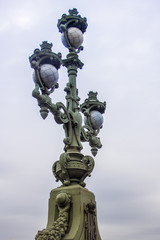 St. Petersburg, Russia. Beautiful street lamp on the Troitsky Br