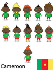 Cameroon national football team. Raster