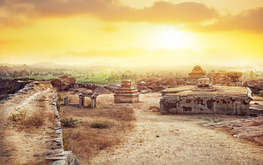 Sunset point in Hampi