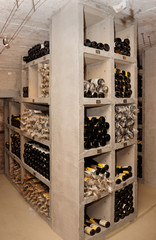 Wine cellar with old riesling