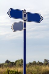 Street Signpost. Direction arrows, pointing to different ways