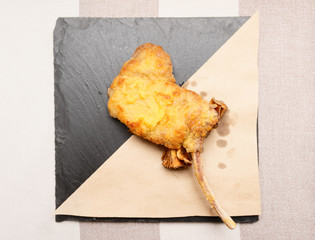 Deep fried rack of lamb