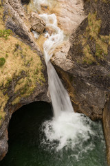 Wasserfall in der Pöllatschlucht im Ostallgäu