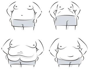 男性肥満体型の色々