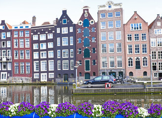 Amsterdam houses in the Netherlands