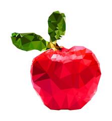 Triangle polygonal Apple illustration