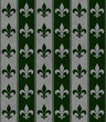 Hunter Green and Gray Fleur De Lis Textured Fabric Background