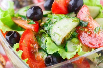 Vegetable salad with olive oil