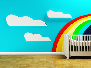 kid's room with the cot