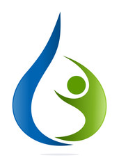 logo waterdrop human care