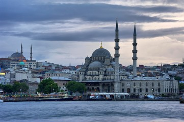 Yeni Camii- New Mosque in blue evening