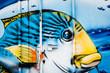 Graffiti couleur poisson