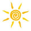 Sun swirl vector