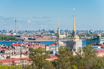 St. Petersburg. View of the city from a survey platform of a col