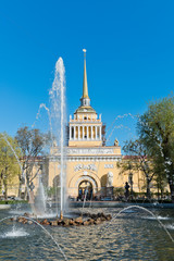 Russia. St. Petersburg. View of the Principal Admiralty through