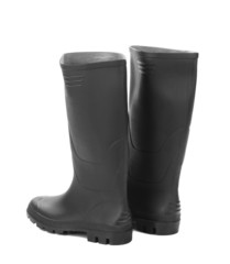 High rubber boots black color.