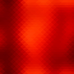 Abstract geometric style background with vibrant red color tones