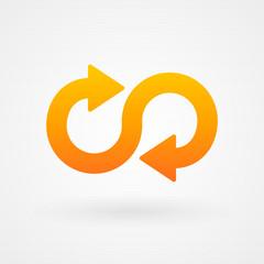 Arrow infinity icon