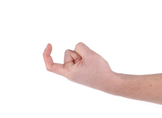 Male hand gesture.