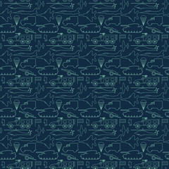 seamless military pattern 13