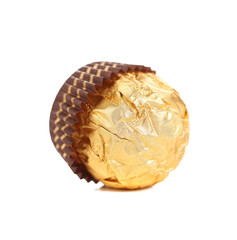 Delicious gold foiled bonbon.