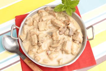 sauté de porc sauce champignons