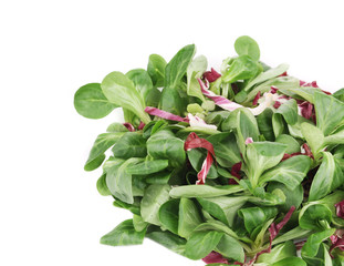 Spinach and radicchio rosso mix.