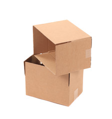 Two cardboard boxes.
